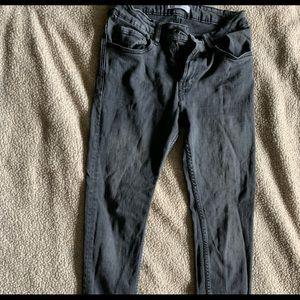 Men's Zara dark gray skinny jeans
